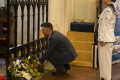 The Lord Mayor of Fremantle laying a wreath on behalf of the City of Fremantle.