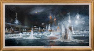 Painting of HMAS Perth(I)