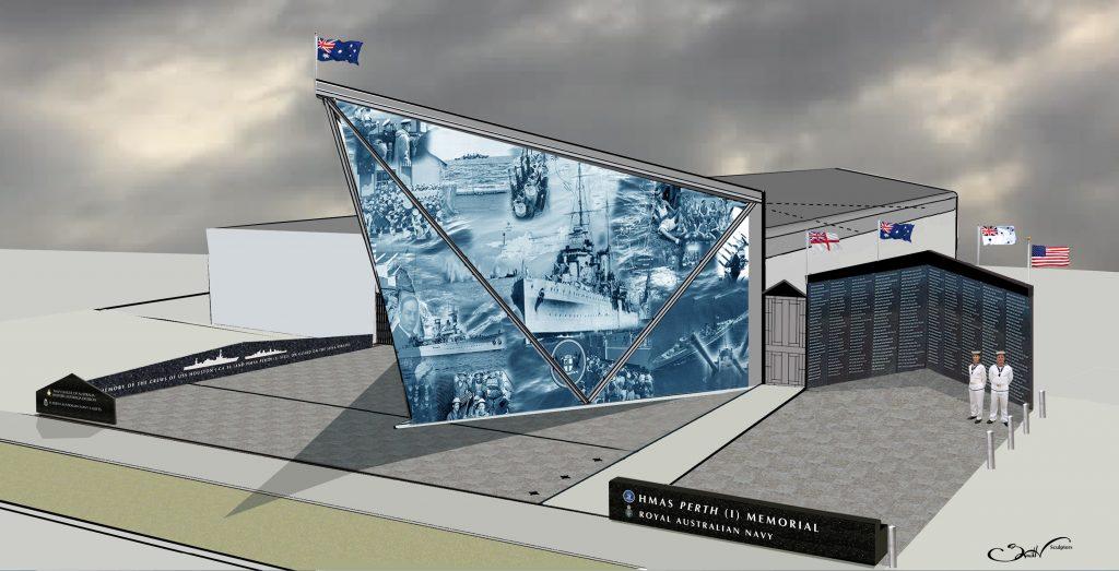 HMAS Perth (I) Memorial concept